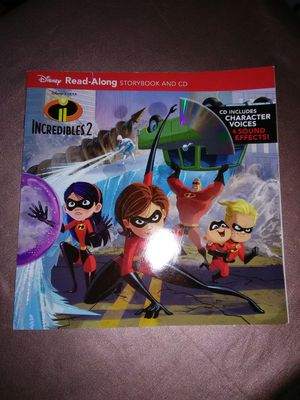 Incredibles 2 read along book, storybook &CD for Sale in Los Angeles, CA