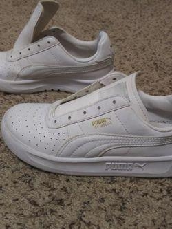 Pumas - All White Kids' Size US 3 for Sale in Jonesboro,  GA