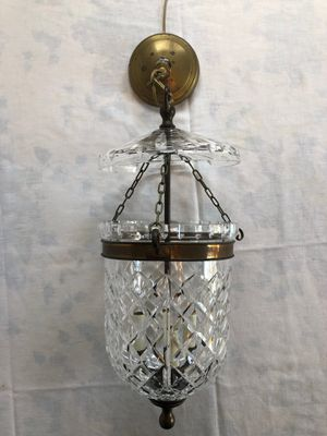 Vintage Waterford crystal Bell Jar chandelier with brass accents for Sale in Seattle, WA