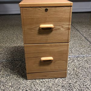 Wooden File Cabinet $5 for Sale in Fontana, CA