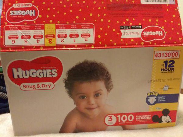 Huggies size 3-open box 8-10 missing