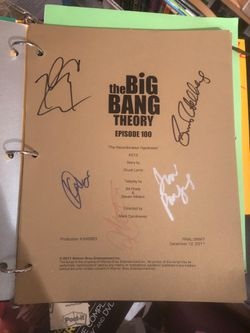 Price reduced- BIG BANG THEORY BIKE and SIGNED SCRIPTPrice REDUCED AGAIN! AND bonus! for Sale in Los Angeles,  CA