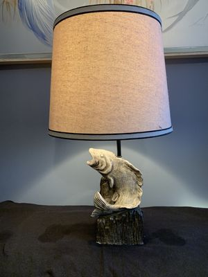 Vintage ceramic fish lamp for Sale in North East, MD