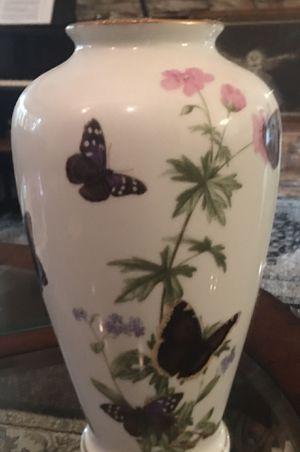 Hand painted The Medowland Butterfly vase by John Wilkinson for Sale in Sebastian, FL