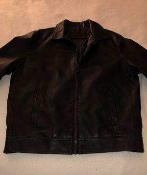 Calvin Klein black, faux leather jacket for Sale in Ashburn, VA