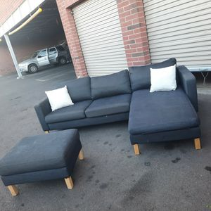 Nice Small Sectional Couch With Ottoman for Sale in Phoenix, AZ