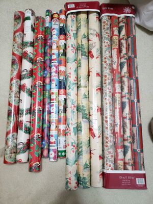 Christmas wrapping paper..13 rolls..$1 each roll for Sale in Columbus, OH