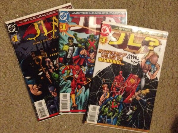 Signed by artist-Justice Leagues complete series