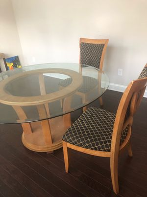Glass Dining Room Table with 4 set of dining room chairs for Sale in Decatur, GA