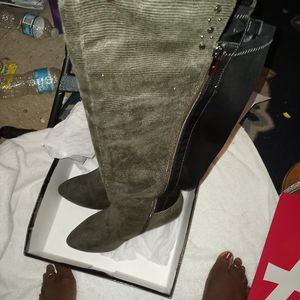 Ashley Stewart 9w Thigh High wide calf boots for Sale in Jacksonville, FL