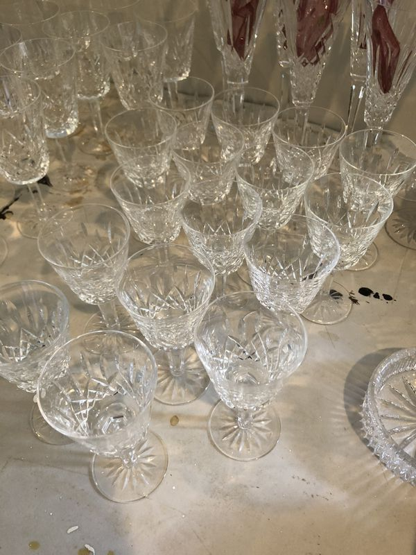 Waterford crystal and Royal Crown Derby China