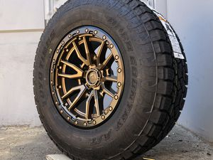 "Fuel 17"" wheels Tires Chevy Silverado 1500 Tahoe GMC Sierra Toyota Tacoma Rims for Sale in Fairfield, CA"