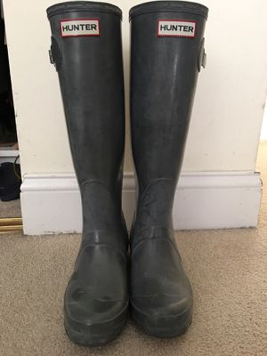 Lightly worn hunter boots for Sale in Miami, FL