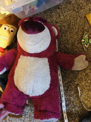 "Jumbo Lotso Bear Toy Story Disney plush doll 18"" tall! for Sale in Phoenix, AZ"