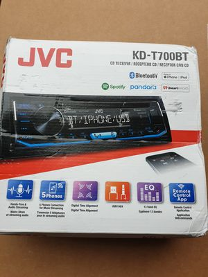 JVC Car Stereo Receiver CD Player, Bluetooth, USB,AUX, Spotify, Pandora, iHeart Radio for Sale in Alsip, IL
