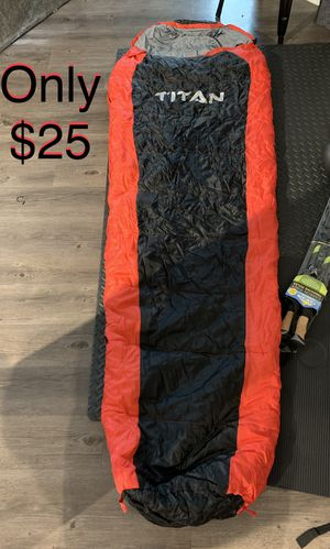 Mummy Sleeping bag for Summer camping and exploration. Comfortable, lightweight and durable! for Sale in Austin, TX
