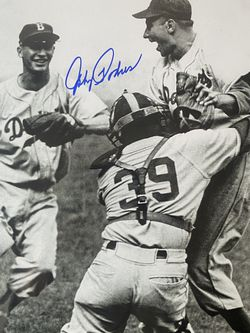 Signed Brooklyn Dodgers Picture By Johnny Podres 10x13 for Sale in Fullerton,  CA