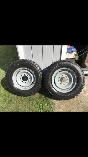 2 Chevy cooper tires and rims for Sale in Blackstone, MA