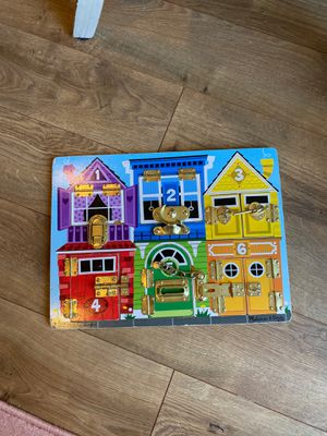 Melissa and Doug latches board for Sale in Damascus, OR