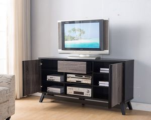 Jason TV Stand up to 70in TVs, Distressed Grey & Black for Sale in Santa Ana, CA