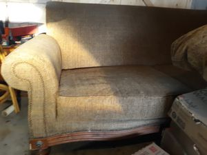 Broyhill Sofa wood trim with lots of Grommets for Sale in Columbus, OH