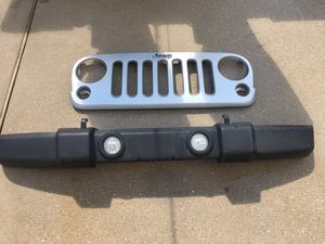 2010 Jeep front bumper and grill for Sale in Pearland, TX