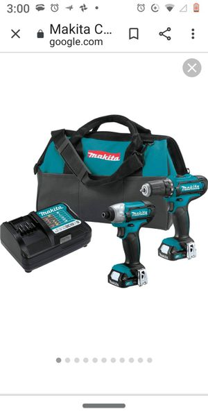 Makita 12v combo kit w/drill and impact,2 batteries and a charger for Sale in Garden Grove, CA