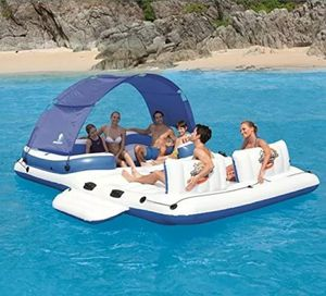 Bestway CoolerZ Tropical Breeze Floating Island 6-8 Person Raft With Accessories for Sale in Basking Ridge, NJ