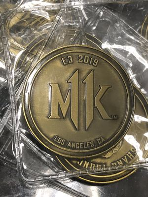Mortal Kombat 11 MK11 Shang Tsung Soul Gold Collectible Coin, $8 each for Sale in Los Angeles, CA