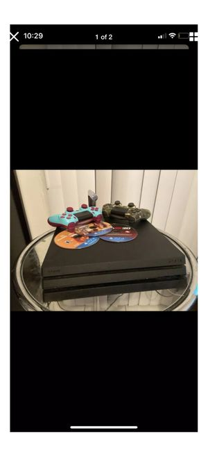 Playstation 4 Pro with 2 controllers and 3 games for Sale in Waterbury, CT