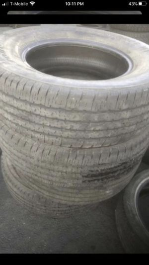 Set of 4 tires Firestone 245/75/17 50% tread life for Sale in Temecula, CA