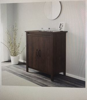 Walnut cabinet brown for Sale in Edgewater, NJ