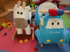 Kids ride on horse cow police car toy for Sale in Queens, NY