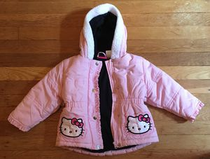 Hello Kitty Coat Jacket Fleece Lined Size 2 Toddler Pre-Owned for Sale in Pittsburgh, PA