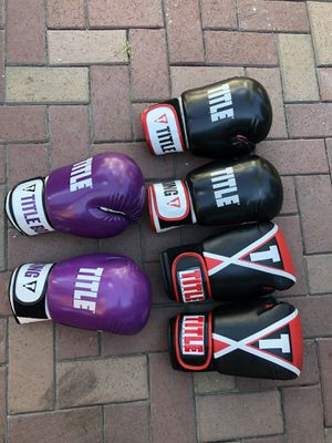 TITLE BOXING GLOVES for Sale in Garden Grove, CA