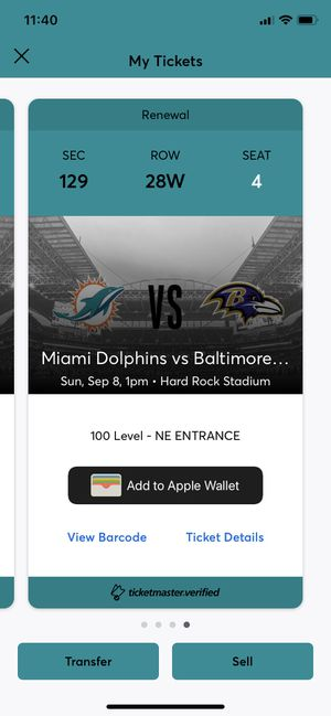 Dolphins tix for Sale in Port St. Lucie, FL