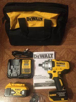 """DeWalt. 20V MAX XR Lithium-Ion Brushless Cordless 1/2"""" Impact Wrench with Detent Pin Anvil Kit. DCF894. for Sale in Brooklyn, NY"""