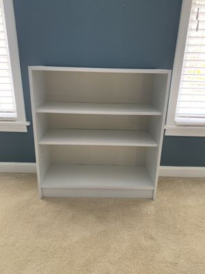 White 3-shelf bookcase for Sale in Lorton, VA