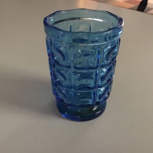 Vintage Colonial Blue Pressed Glass Tumbler for Sale in Buffalo, NY