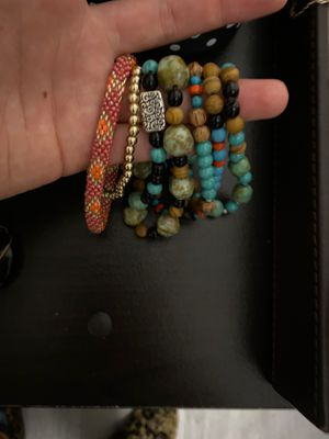 Assorted Bracelets - Beaded, Metal, Wooden for Sale in Ithaca, NY