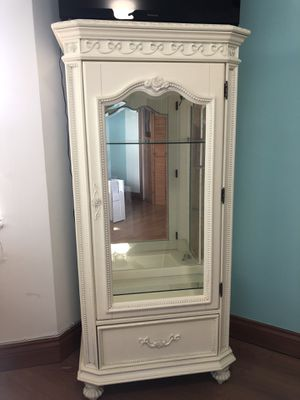 Disney Princess Collection Glass Display Cabinet With Storage for Sale in Miami, FL