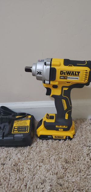 DEWALT 20-Volt MAX XR Lithium-Ion Brushless Cordless 1/2 in. Impact Wrench with Detent Pin Anvil comes with charger and battery for Sale in Bakersfield, CA