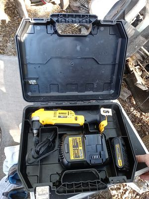 Dewalt 90 degree drill battery charger and case for Sale in Chattanooga, TN