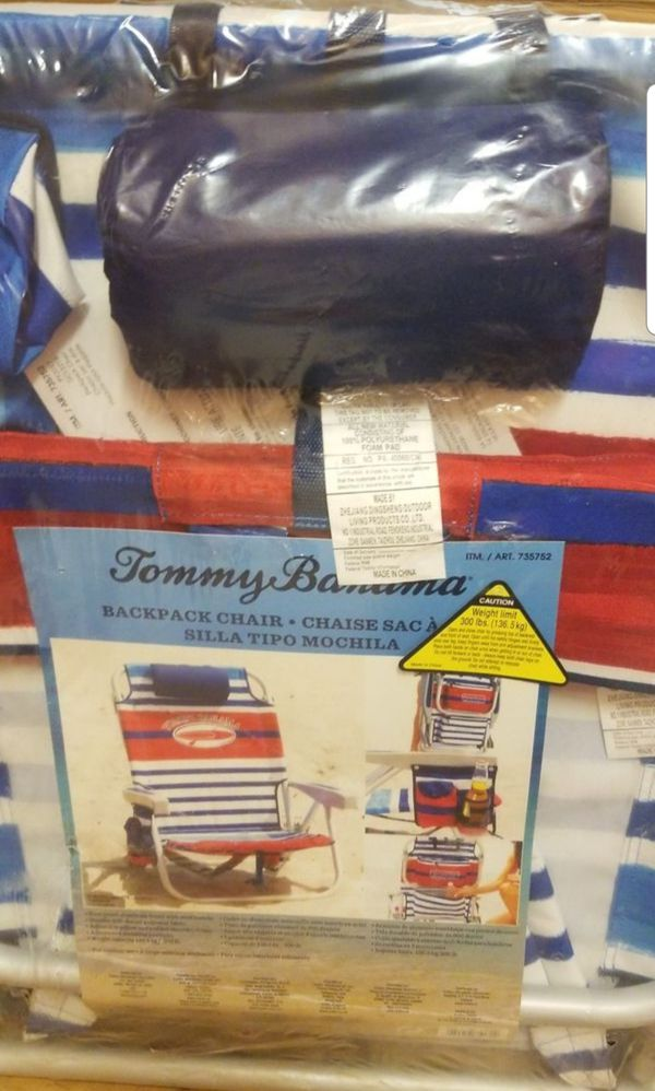 Tommy Bahama Backpack Chair. Beach Chair. New