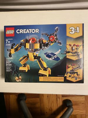 LEGO Creator 3 in 1 Underwater Robot (31090) for Sale in Tampa, FL