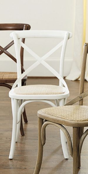 4 white birch and rattan dining chairs for Sale in North Miami Beach, FL