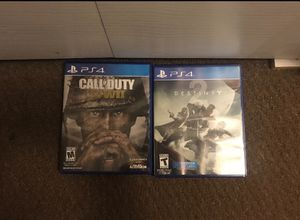PS4 Games - Call Of Duty WW2 and Destiny 2 for Sale in Millersville, MD