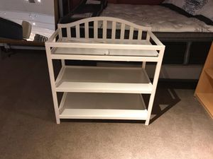 White wooden changing table for Sale in Willoughby Hills, OH