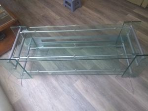 "56"" Glass Table > 2 Shelves for Sale in Nuevo, CA"