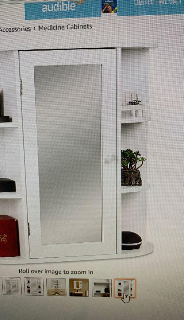 HOMFA bath room wall cabinet medicine storage organizer
